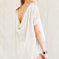 Urban Renewal Remade Drape-Back Gauze Top-