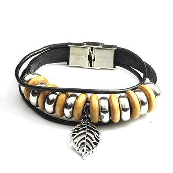 New Arrival Shiny Stylish Awesome Great Deal Gift Hot Sale Strong Character Leather Handcrafts Bracelet [6542275779]