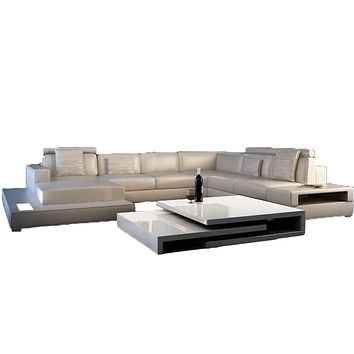 Luxury Leather Modern Sectional  Sofa For Living Room