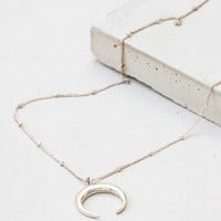 Moon Necklace - Sterling Silver