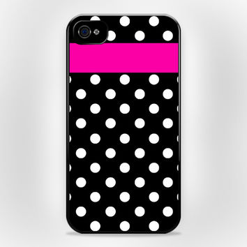 Kate Spade Polka dot Pink Strippes iPhone 4 4s Case