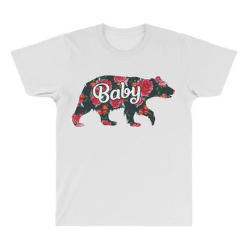 Floral Baby Bear All Over Men's T-shirt