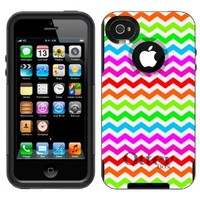 Otterbox Commuter Chevron Rainbow Pattern Case for Apple iPhone 4