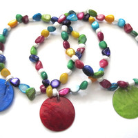 Mother of Pearl Colorful Stretch Bracelet