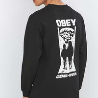 Obey - T-shirt Game Over à manches longues noir - Urban Outfitters