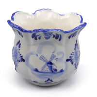 Ceramic Flower Pot Blue and White