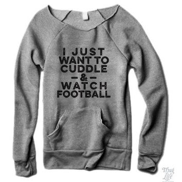 Cuddle And Watch Football Sweater