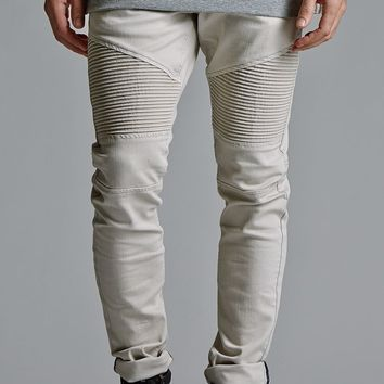 Tan denim skinny jeans