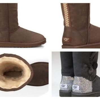 Custom UGG Boots made with Swarovski Classic Tall Tasman Free: Shipping, Repair Kit, C