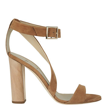 Alexander White Demi Suede Stack Heel Sandal at INTERMIX | Shop Now | Shop IntermixOnline.com