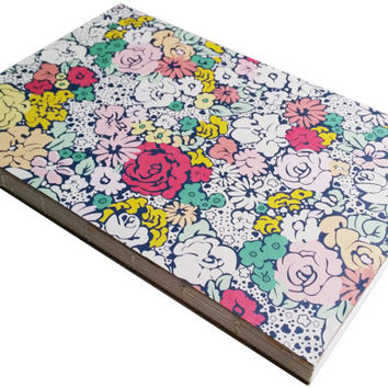Colorful flower blank journal 80 bound pages 5 1/2 X 8 1/2