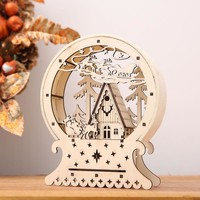 Cute Luminous Cabins Gift Creative Christmas Decorations Wood House Table Decor Christmas Ornaments For Home natale navidad 2017