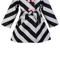 Lola Summer Coat (black/grey) : Madreperla ?-, Online kids fashion. Kids clothing and styling for children.