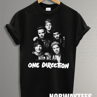 One Direction Shirt The Who We Are1D Symbol Printed on Black t-Shirt For Men Or Women Size TS 91