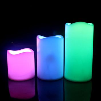 3pcs/Set Flameless LED Candle Lamp Remote Control