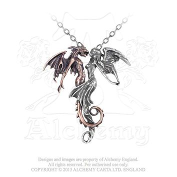 The Chemical Wedding Two Tone Necklace Pendant Alchemy