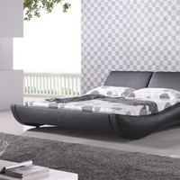 NORMANDIE Modern/Contemporary Platform Bed Mocha (King)