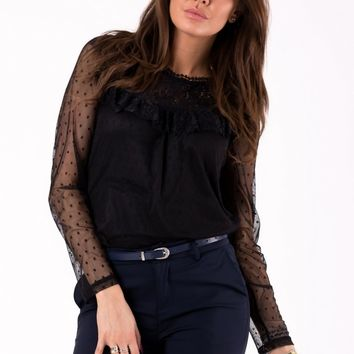 BLOUSE -BLACK 46041-2