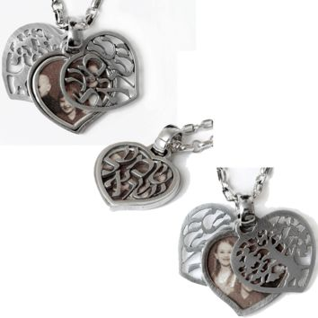 Shema & Tree Of Life Double Sided Heart Locket By Michael Bromberg, Jewelry