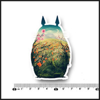 Min.order is $10(mix order)Exclusive Hot Small fresh cartoon style Totoro Waterproof Personalized laptop stickers[Single]