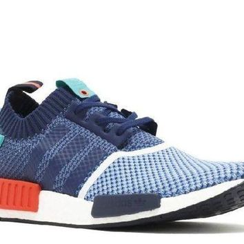 ESBON Ready Stock Adidas Nmd R1 Pk Pakers Blue Turquoise Red Sport Running Shoes