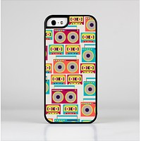 The Retro Boombox Pattern Skin-Sert for the Apple iPhone 5-5s Skin-Sert Case