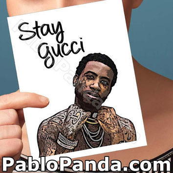 Card For Boyfriend | Gucci Mane | I Get The Bag Hip Hop Card For Him Birthdays Card Dad Boyfriend Card Card For Men Boyfriend Gift Bff Gift