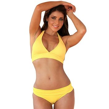 Halter Banded Swimsuit Swim Wear Top Only