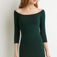 Fashion  Long sleeve Solid color Dress