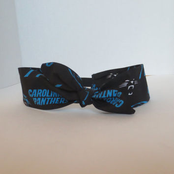 Carolina Panthers - Adult Headband - Panthers headbands - Adjustable Headband