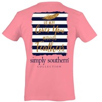 Simply Southern Preppy Collection Psalms 91:4 T-Shirt for Women PRPFEATHER-PARTYPINK