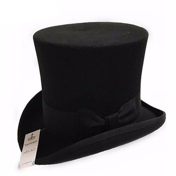 7 Inch Wool Top Hat
