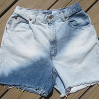 High Waisted Bleached Shorts Size 8 by DenimAndStuds on Etsy