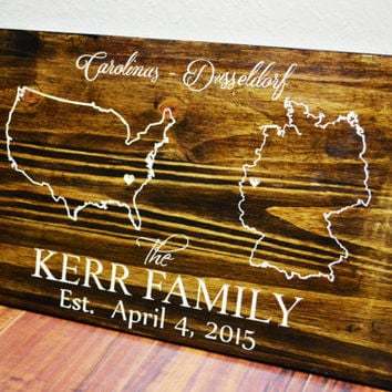 Personalized Wedding Map, Custom State Art engraved, Gay Marriage Gift, Anniversary Map, Engagement Gifts for couple, Bridal Shower