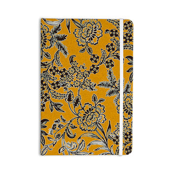 "Vikki Salmela ""Golden Blossom"" Gold Black Everything Notebook"