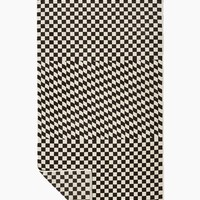 Rook Woven Towel - Rook Black & White Checkered Print
