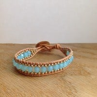 Sky Blue Opal Woven Bracelet from That's so Fletch Boutique