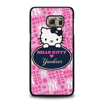 HELLO KITTY NEW YORK YANKEES Samsung Galaxy S6 Edge Plus Case Cover