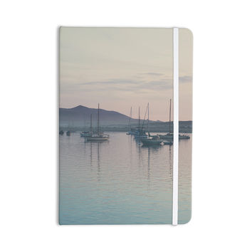 "Laura Evans ""As the Sun Goes Down"" Gray Pastel Everything Notebook"