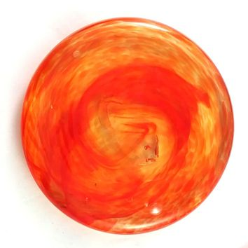 Orange Sun Rondel for Stained Glass Work, 3 7/8""