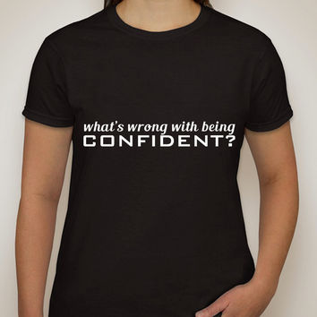 "Demi Lovato ""What's Wrong With Being Confident?"" T-Shirt"