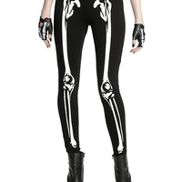 Blackheart Skeleton Glow-In-The-Dark Leggings