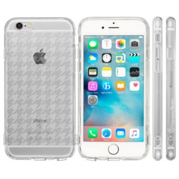 Highend Berry Original Soft TPU Case with Protective Cap for Charging/Headphones Port for iPhone 6 (Houndstooth)