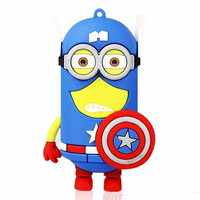 """Minions """"Captain America"""" 4400 mAh External Battery Pack with Micro USB Cable"""