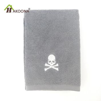Skull Terry Towels Embroidered 84*34 cm 150 g Absorbent Soft