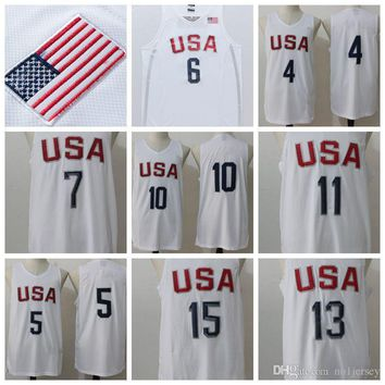 USA Olympic Basketball Jerseys #5 Basketball Jerseys Cheap #11 USA Olympic Basketball Shirt #10 USA Olympic Basketball Wears Discounted Sale