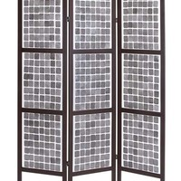 "A.M.B. Furniture & Design :: Room Divider Screens :: Stylish and Unique 71"" Decorative Wooden 3 Panel Screen"