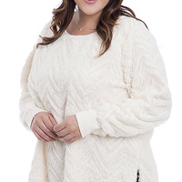 Plus Size Faux Fur Pullover