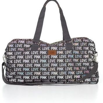 Victoria's Secret Pink Hologram Print Duffle Bag Carry-on