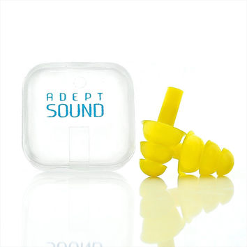 Ear Plugs (Yellow) Noise Cancelling For Sleeping Concerts Music Events Shooti...